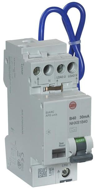 WYLEX NHXSB40AFD  40A B 30Ma Rcbo Afdd Combined Cpd